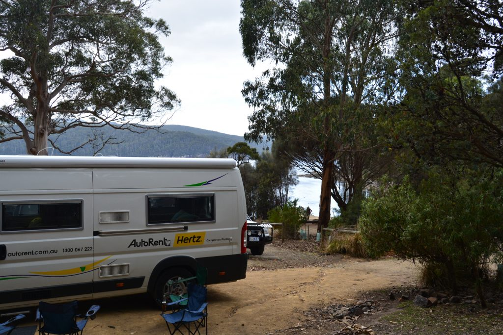Vores spot i Fortescue Bay Campground