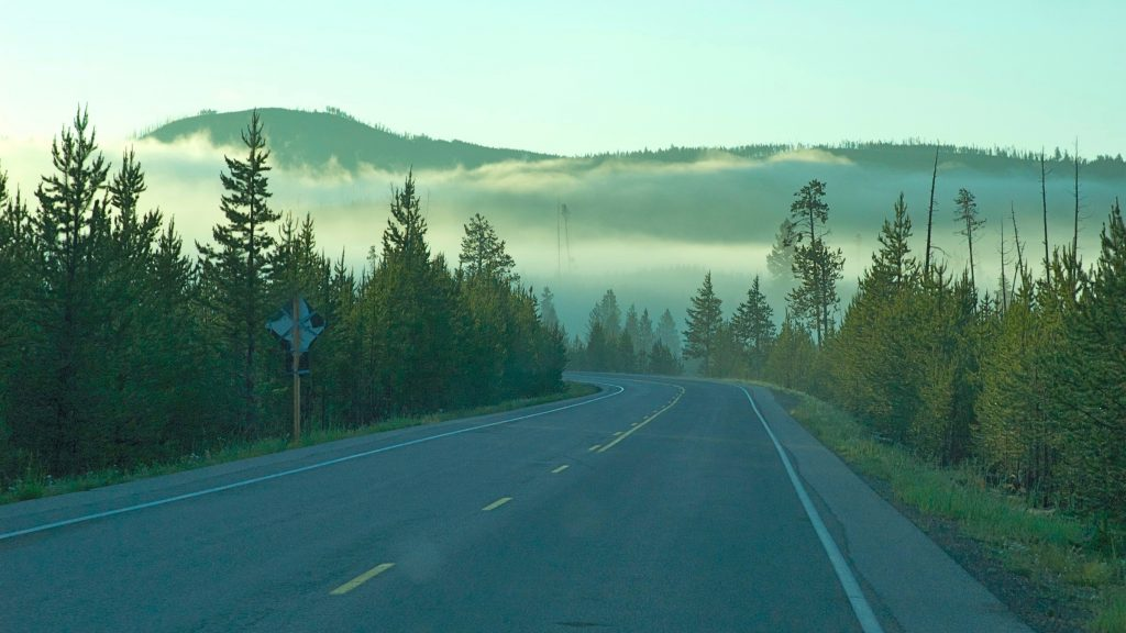 Tidlig morgen i Yellowstone