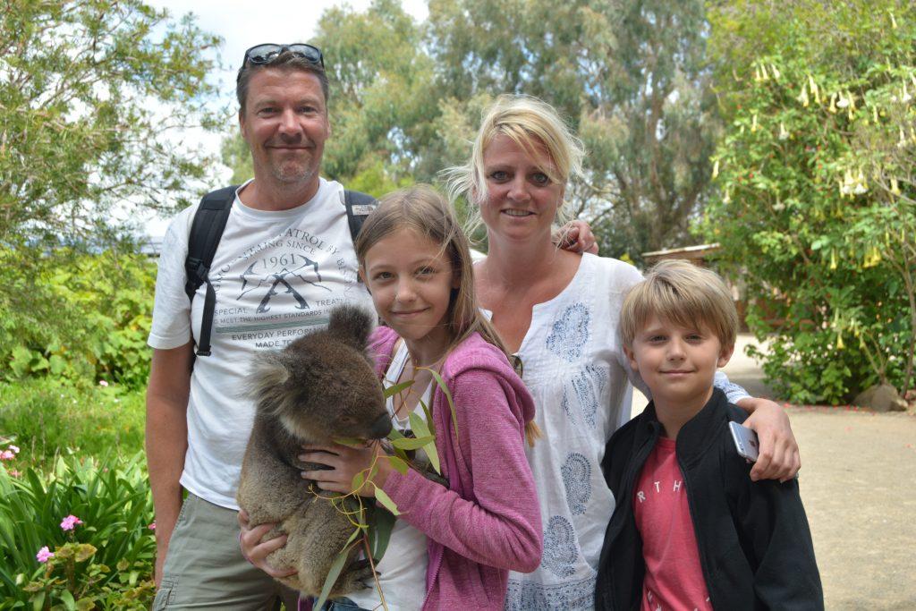 Familien i KI Wildlife Park
